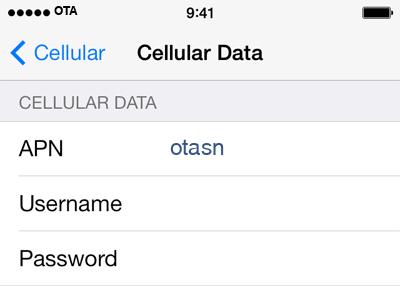Total Wireless 1 APN settings for iOS screenshot