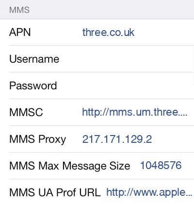 Freedom Pop 2 MMS APN settings for iOS screenshot