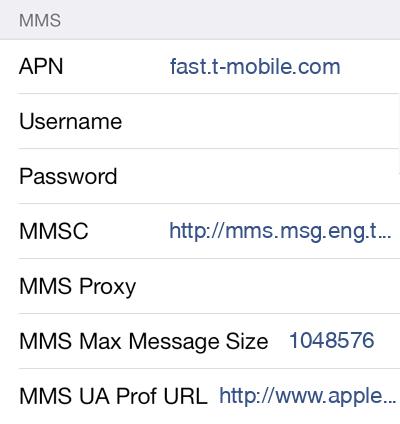 T-Mobile APN settings for iOS - APN Settings USA