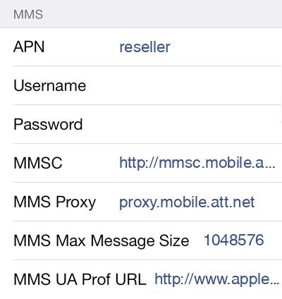 Defence Mobile 2 MMS APN settings for iOS screenshot